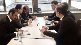 سعادة الوزير يجتمع مع وزير النقل والبنية التحتية الأوكراني