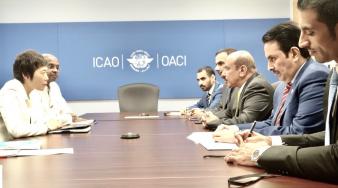 سعادة وزير المواصلات والاتصالات يجتمع مع أمين عام منظمة (إيكاو)