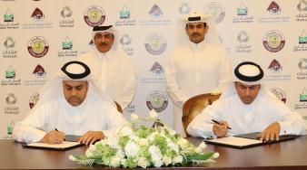 """سعادة وزير المواصلات والاتصالات يشهد توقيع مذكرة تفاهم بين """"مواني قطر"""" و""""منتجات"""""""