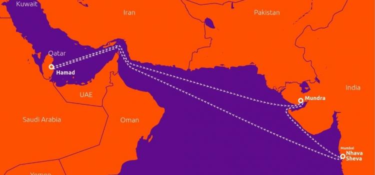 تدشين خط ملاحي جديد مباشر بين دولة قطر وجمهورية الهند
