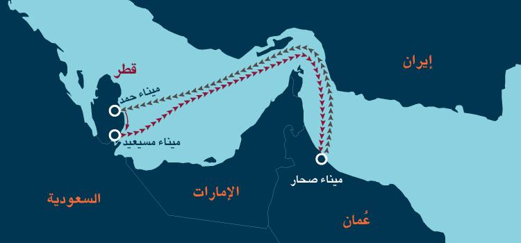خط ملاحي جديد لنقل البضائع بشكل مباشر بين دولة قطر وسلطنة عمان